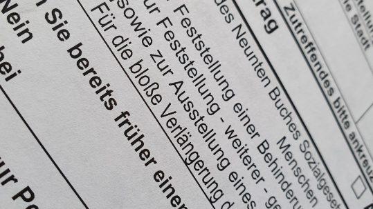 Antrag auf Schwerbehinderung mit der Veedelspflege Köln